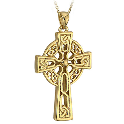 Solvar  9K Medium Celtic Cross Pendant