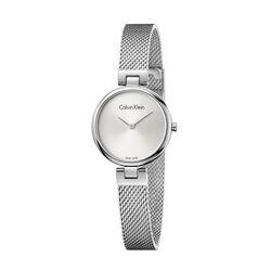 Calvin Klein Authentic Mesh Strap Watch Ladies Silver