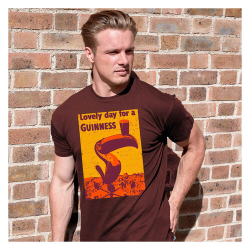 Guinness  Burgundy Toucan Colour T-Shirt