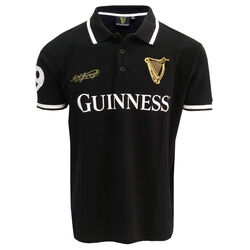 Guinness Black Guinness Polo Shirt With Harp Crest