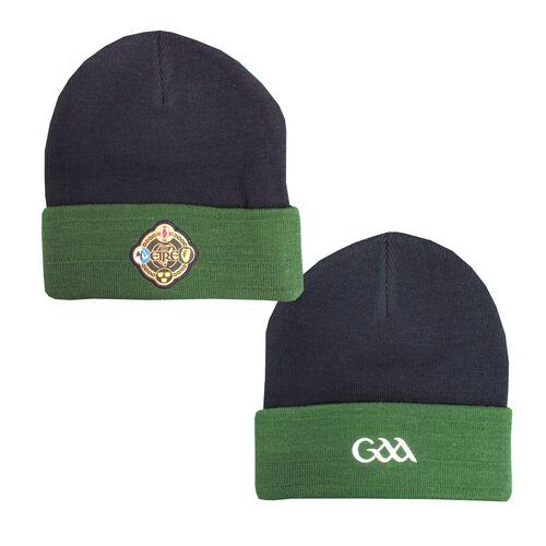 Irish Memories Navy Green GAA Knitted Hat