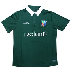 Irish Memories Green Kids Performance Top  with 4 Province Badge
