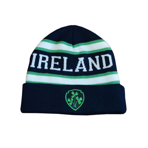 Lansdowne Kids Navy Green White Ireland Kids Knit Hat