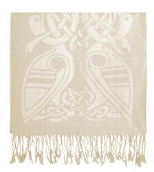 Patrick Francis White Celtic Design Wool Scarf