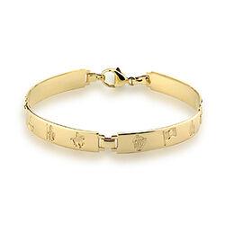 Solvar  14K Hoi Ladies 4 Link Bracelet