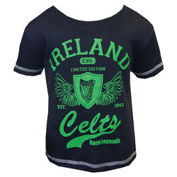 Traditional Craft Kids Navy Kids Celtic Wings Kids T-Shirt