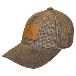 Traditional Craft Adults Brown Tweed Suede Peak Embossed Baseball Cap