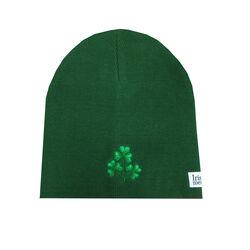 Irish Memories Bottle Green Shamrock Knitted Hat