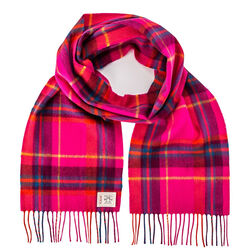 Avoca Hot Pink Merino Scarf Woven in the Avoca Mill in Ireland