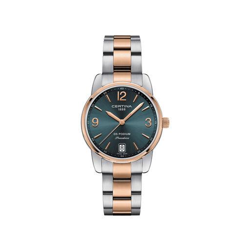 Certina C0342102209700 Ds Podium Lady Watch 35mm Grey 33mm