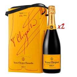 Veuve Clicquot Yellow Label Brut  Twin Pack 75cl *2