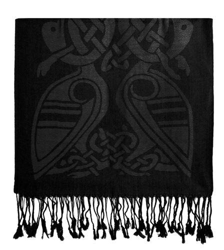 Patrick Francis Black Celtic Design Wool Scarf