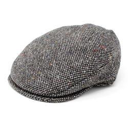 Hanna Hats Vintage Cap Tweed Granite Grey Salt & Pepper