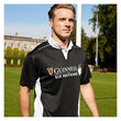 Guinness Black 6 Nations Perf Short Sleeve Rugby  L