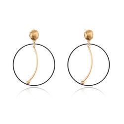 Scribble and Stone Stamen Discs Earrings