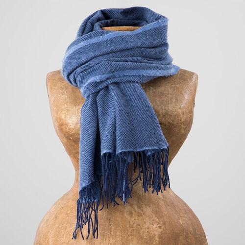 Avoca Cashmere Wool Blend Sandymount Scarf in Navy