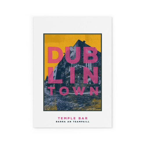 Jando  Dublin Town Temple Bar Large Print A3