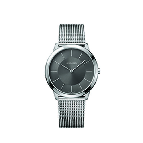 Calvin Klein K3M21124 Minimal Unisex Swiss Watch Cool Grey Mens Grey