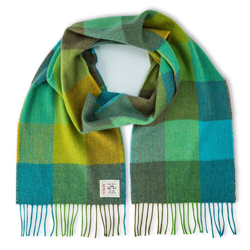 Avoca Green Fields Merino Scarf Woven in the Avoca Mill in Ireland