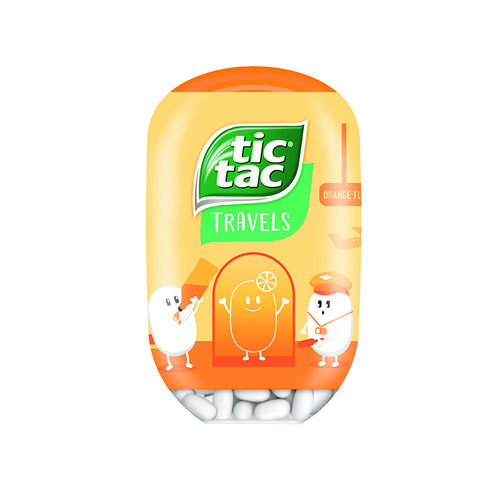Tic Tac Tic Tac Bottle Orange 98g