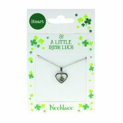 Clover Clover Necklace - Clover In Heart