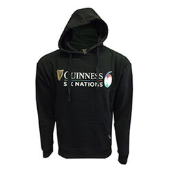 Guinness Black 6 Nations Rugby Hoodie  L