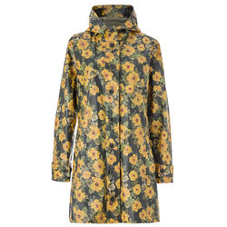 Avoca Hooded Rain Mac Sunflower Print