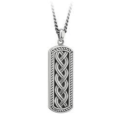 Solvar  Silver Oxidised Celtic Ingot Pendant