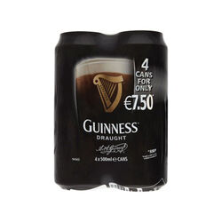 Guinness Guinness 4 Pack Beer 4x50cl