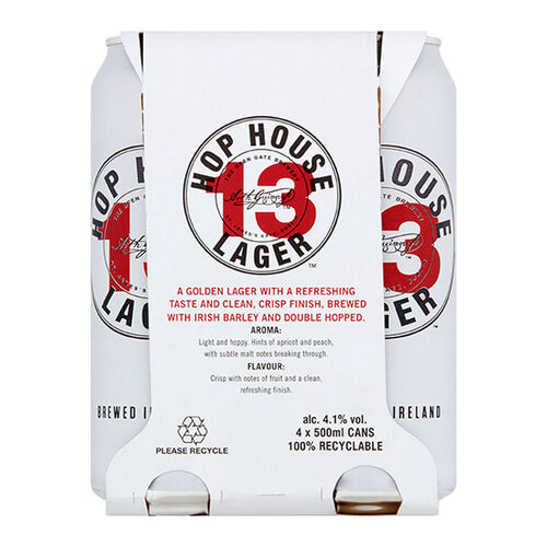 Guinness Hop House 13 Lager Pack 4x50cl