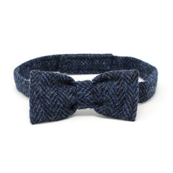 Hanna Hats Bow Tie Tweed Classic Blue & Black Herringbone
