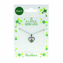 Clover Clover Necklace - Clover In Heart
