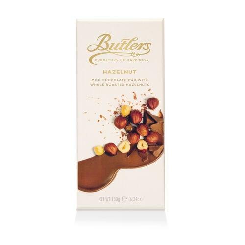 Butlers 180g Milk Chocolate Whole Hazelnut Bar