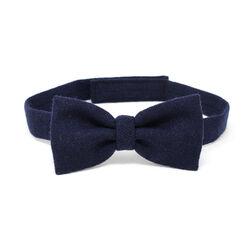 Hanna Hats Bow Tie Tweed Solid Navy