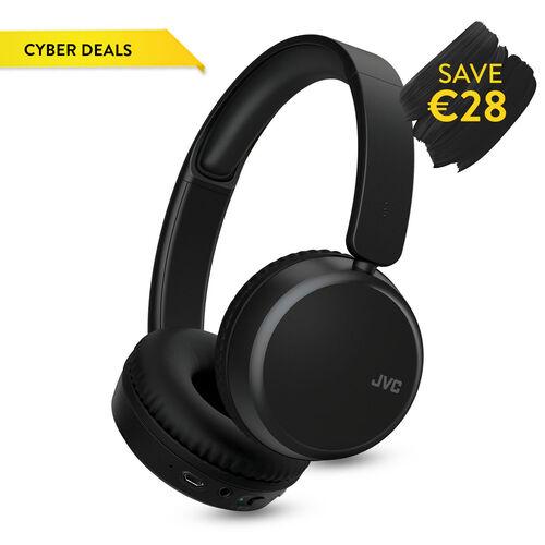 JVC On Ear Bluetooth Noise Cancelling Headphone   Black