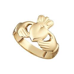 Solvar  9K Hollow Back Ladies Claddagh Ring