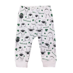 Traditional Craft Kids Green / White Stripe 3D Sheep Slipper Socks
