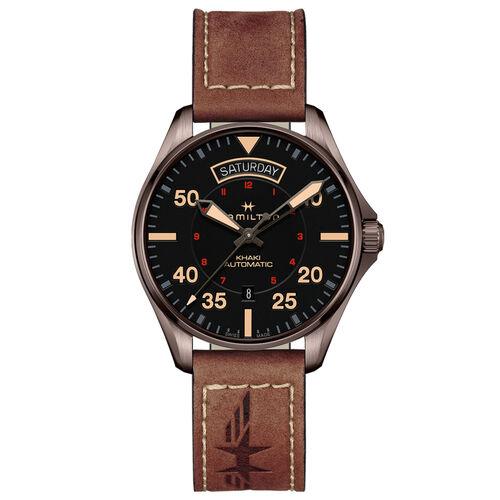 Hamilton H64605531 Khaki Pilot Day Date 42mm Brown Pilot Day/Date Auto 42mm Brown