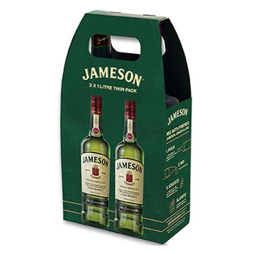 Jameson Twin Pack Blend Irish Whiskey 1L
