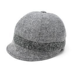 Hanna Hats Slieve League Hat Tweed Solid Grey & Classic Black & White Herringbone