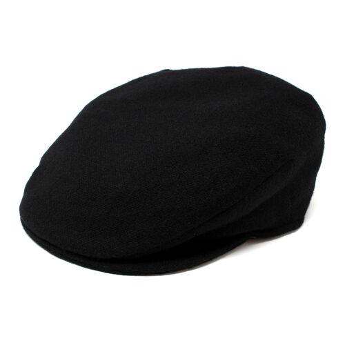 Hanna Hats Vintage Cap Tweed Solid Black