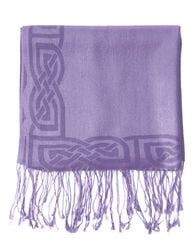 Patrick Francis Wisteria Wool Blend Pashmina with Celtic Design