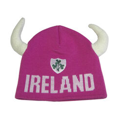 Lansdowne Kids Pink Ireland Knitted Hat With Horns Kids