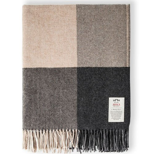 Avoca Rome Cashmere Blend Throw Woven in the Avoca Mill in Ireland