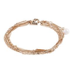 Pilgrim Bracelet Katherine Rose Gold White One Size
