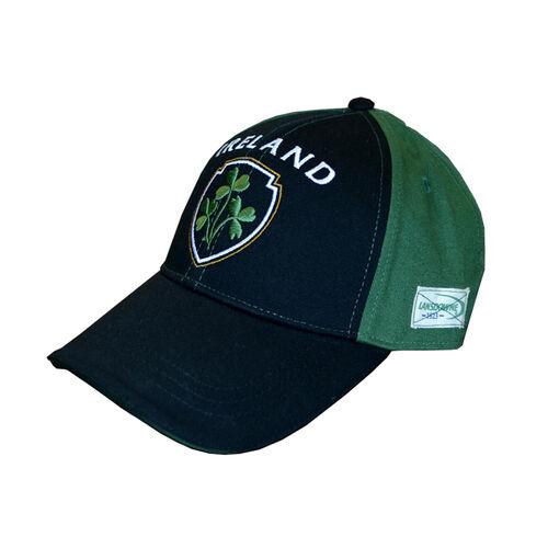 Lansdowne Adults Black Green Baseball Cap With Shamrock