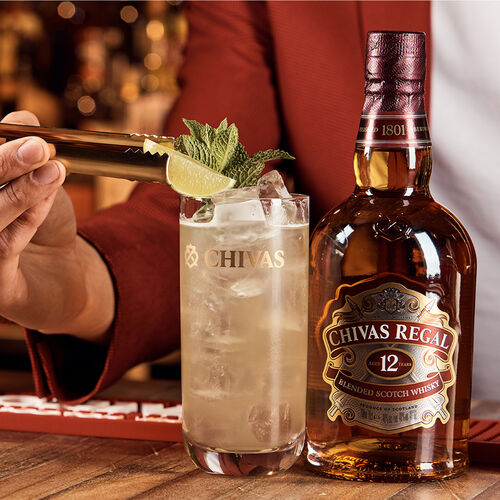 Chivas 12 Year Old Blended Scotch Whisky Scotland  1ltr Scotland 12 Yo Blended 1L Bottle