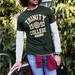 Trinity Bottle Green & Mustard Trinity College 1592 T-Shirt   L