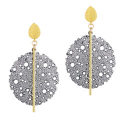 Scribble and Stone Laser Cut Bloom Drop Earrings