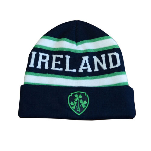 Lansdowne Adults Navy Green White Ireland Knit Hat